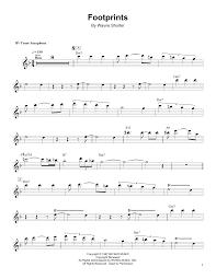 Tenor Sax Chart Footprints By Wayne Shorter Piano Vocal Guitar Right Hand Melody Digital Sheet Music