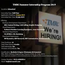 Seo Interns Summer Internship Program 2019 Tmr Consulting