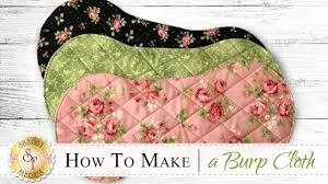 Burp Cloth Pattern Enchanting How To Make A Flannel Burp Cloth A Shabby Fabrics Sewing Tutorial