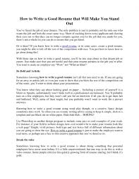 How To Do A Good Resume How To Do A Good Resume Examples Best Resume And CV Inspiration 4