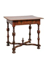 william mary style walnut side table