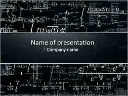 Chalkboard Ppt Theme Math Ppt Template Arianet Co