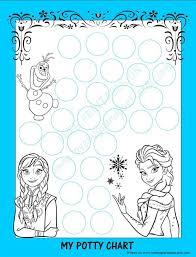 Potty Training Sticker Chart Printable Frozen Potty Chart Free Printable Potty Training Tips Lovebugs