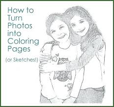Photos Into Coloring Pages Running Downcom