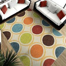 orange and green rug modern area rug green blue red orange yellow circles carpet