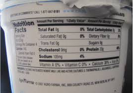 chobani yogurt nutrition label world of label