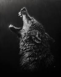 black and white wolf howling photography. Unique Howling IllustrationPaintingDrawing Inspiration Inside Black And White Wolf Howling Photography