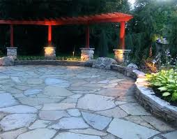 unique patio cost for stunning stone backyard ideas about slate on flagstone awesome canada idea concrete