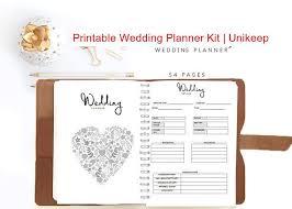 Printable Wedding Planner Printable Wedding Planner Kit Unikeep Keep Every Aspect