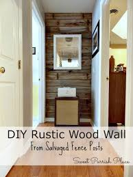 diy rustic wood wall