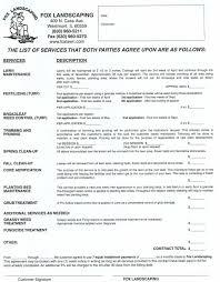 Lawn Care Contract Template Barca Fontanacountryinn Com