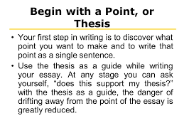 writing thesis statement ppt  begin a point or thesis