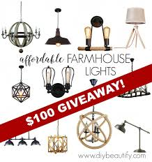 inexpensive lighting fixtures. Discount Lighting For Farmhouse Style And A Giveaway DIY Beautify Within Plans 11 Inexpensive Fixtures