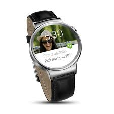 huawei smartwatch w1. huawei smartwatch w1 stainless steel with black leather strap smartwatch i