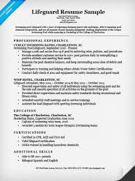 lifeguard resume sample
