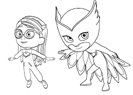 Pj Masks Coloring Pages Pdf At Getdrawingscom Free For Personal