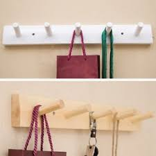 Coat And Bag Rack Wooden Coat Hanger 100 Hooks Clothes Hat Bag Holder Wall Mount Rack 92