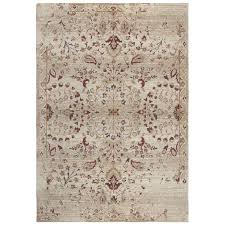8 x 10 large ivory gold and red area rug gossamer rc willey furniture