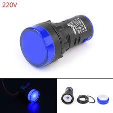 220v Pilot Light 1pcs Led Indicator Pilot Light Signal Lamp Panel 220v 22mm Ip65 Ad16 22 Blue