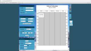 Online Weekly Planner Maker Free College Schedule Maker Schedule Builder