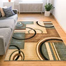 3 by 5 rug stunning generations modern geometric circles light blue beige ivory along with