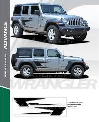 2020 Jeep Colors Chart 2007 2018 2019 2020 Jeep Wrangler Jl Unlimited Side Door Decals Advance Vinyl Graphic Door Stripes Kit