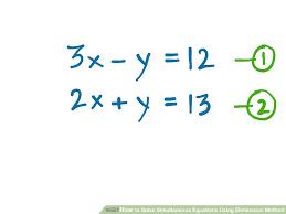 image titled solve simultaneous equations using elimination method step 2