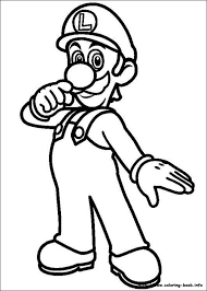 Small Picture Super Mario Luigi Coloring Pages super mario luigi coloring