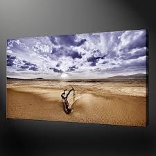 beach log canvas wall art
