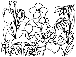 Small Picture Flower Garden Coloring Page Coloring Book