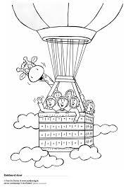 Kleurplaat Juul En Zijn Vrienden In Een Luchtballon Afb 9711