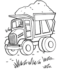 Free Dump Truck Coloring Pages For Kids Coloringstar