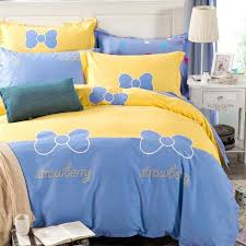 um image for blue and yellow single duvet cover blue and yellow duvet cover king blue