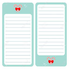 Merry Christmas Candy Cane Paper Note List Pad Planner Set