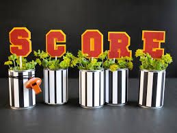 football inspired diy centerpieces