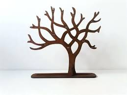 diy tree branch jewelry stand earring holder wooden