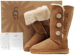 UGG Bailey Button Triplet Boots 1873 Brown