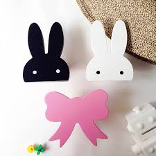 Rabbit Decorative Accessories Cute Bunny Wooden Wall Hangers DIY Hooks RabbitCloudBow Wall 15