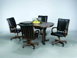 dining chairs on casters elegant modern kitchen wheels with kitchenette 6