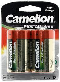 Купить <b>Батарейка D</b> щелочная <b>Camelion</b> MN1300-2 1.5V 2 шт по ...