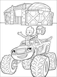 Aj On Blaze Coloring Page Free Printable Coloring Pages For Kids
