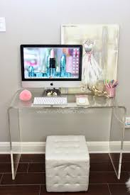 clear office desk. Miss Liz Heart: Beauty Room/Office Update - New Desk- Clear Desk In Burn To Make It Feel Less Obtrusive? Office B