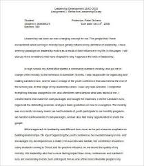 leadership essay samples examples format  reflective leadership essay sample