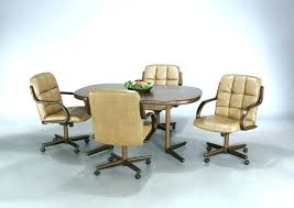 dining room chairs with casters chair caster decor 16
