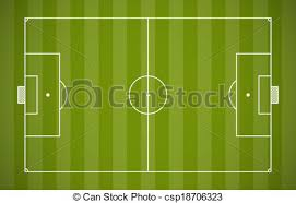 soccer field templates soccer field lining vector template on green background