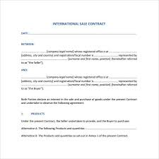 Basic Contract Outline Sample Basic Contract Template 18 Free Sample Example