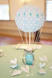 Hot Air Blue and Sparkling Wedding Balloon Centerpiece