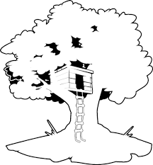 Disegno Di Casa Sullalbero Da Colorare Per Bambini