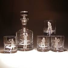 whiskey decanter and glasses set preparing zoom