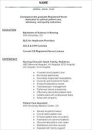 Registered Nurse Curriculum Vitae Sample New Registered Nurse Resume New Resume Samples Unique Registered